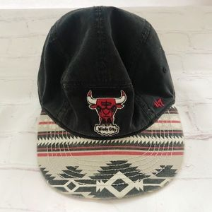 [Chicago Bulls] Aztec flat bill hat 47 brand